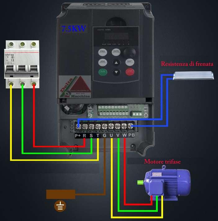 Schema Collegamento Inverter Motore Trifase : Elettronica
